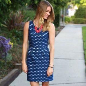 J. Crew Sparkle Dot Blue Dress